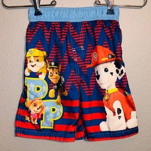 Paw patrol swimming trunks size 5T